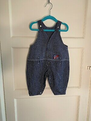Vintage Baby Boys St Michael M&s Dungarees Playsuit Romper 6-12 Months 1990s