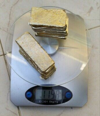 1199 Grams Scrap Gold LOT Bar For Gold Recovery Melted Different Computer Pins