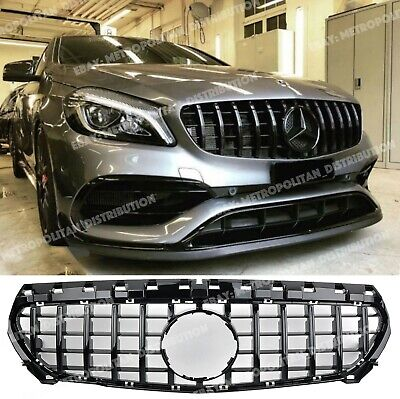 Mercedes CLA GRILLE,W117/X117/C117,AMG GT CLA45 yellow night edition,FULL BLACK