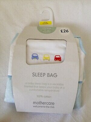 Mothercare On The Road 0-6 Months 2.5 Tog Snoozie Sleeping Bag Cars Blue NEW boy