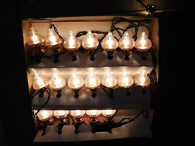 Vintage NOMA 19 Copperfields Oil Lamps Christmas Tree Fairy Lights