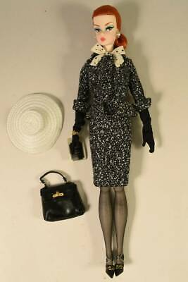 Black & White Tweed Suit Barbie Silkstone Fashion Model Collection Gold Label