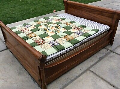 superb apprentice piece large double bed -excellent condition. Victorian