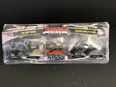 STAR WARS Titanium Series Die-Cast Metal Death Star Micro Machines Pack Hasbro