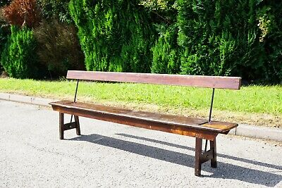 Antique Railway Bench, 2.6m, Early 20th Century, Provenance to Corwen
