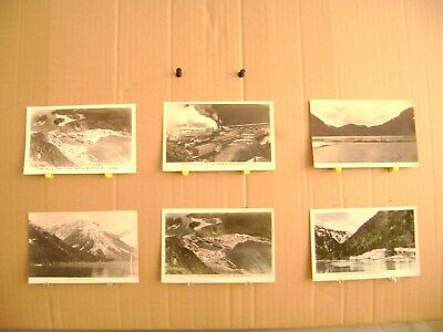 6 Old B&W Postcards OCEAN FALLS BC Pulp & Paper Mill Waterfront FREE SHIPPING