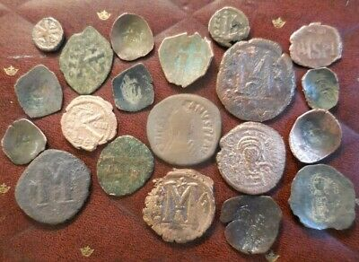 Lot of 20 Byzantine Era Coins, Largest 34mm, All Have Some Detail to Research ID