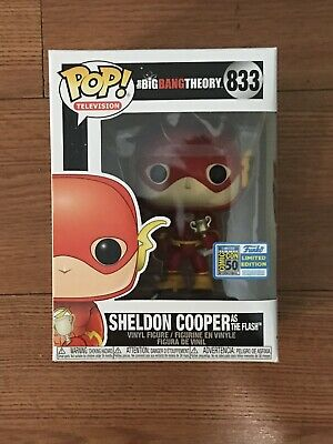 Funko Pop! Sheldon Cooper The Flash #833 2019 Sdcc Official Sticker Big Bang