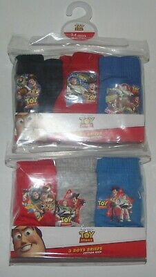 Boys TOY STORY 100% Cotton Character BRIEFS/PANTS x 6 Pairs - Sizes 2-6 Years