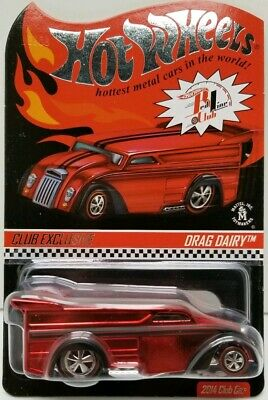 Hot Wheels 2014 RLC Red Line Club Exclusive Member Drag Dairy Red 02832/03500