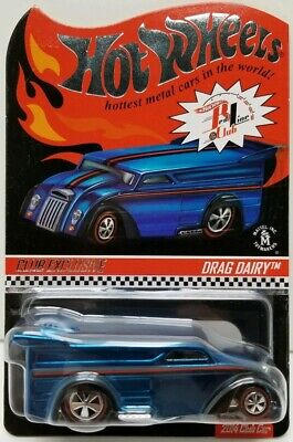 Hot Wheels RLC Red Line Club Drag Dairy 2014 2440/4000 Blue
