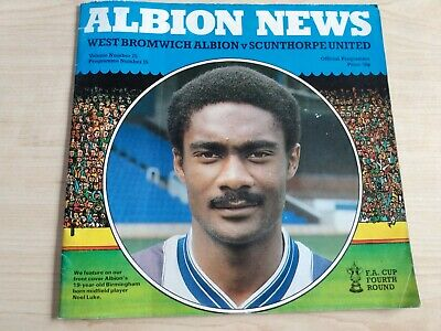 West Bromwich Albion v Scunthorpe United Programme 1983-84 FA Cup