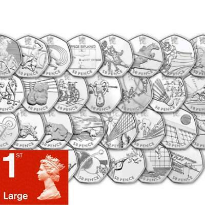 Rare London Olympic 50p coins Fifty pence Collection Sir İsaac Newton