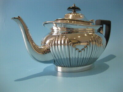 Very Nice Antique Silver Plated Mappin & Webb Regency Style Half Panel Tea Pot