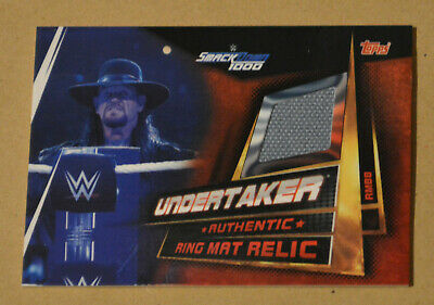 Topps WWE SLAM ATTAX UNIVERSE Ring Mat Relic UNDERTAKER #RMBB card