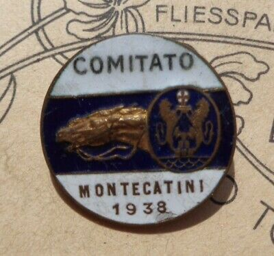 distintivo  COMITATO MONTECATINI - 1938