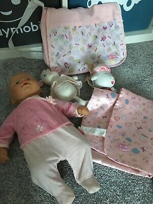 Zapf Creations Baby Annabell Doll bundle Doll, Bag, Mat, Lamb & Sunny Holder
