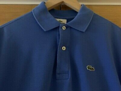 Lacoste Polo Shirt, Blue, Kids Size 18 - Fits As Mens Small