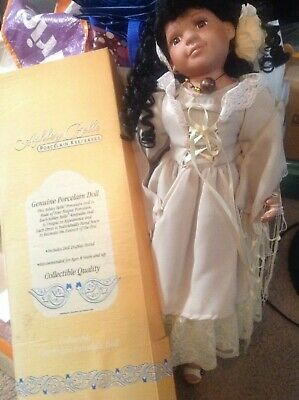 """Porcelain Native American Dolls Lot of 4 Goldenvale 9/""""-authenticity certificate"""