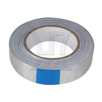 50m*30mm Silver Aluminum Foil Tape Rolls Malleable Self Adhesive