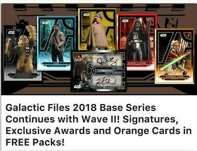 Topps Star Wars Card Trader SWCT Galactic Files 2018 Blue Wave 2 Mixed Lot of 9