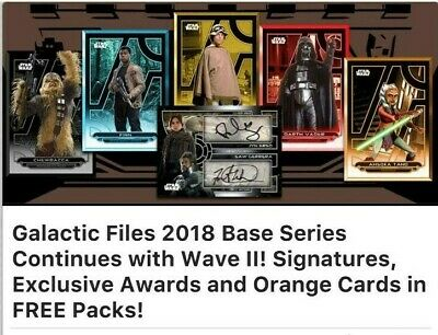 Topps Star Wars Card Trader SWCT Galactic Files 2018 Orange Wave 2 Mixed Lot 9