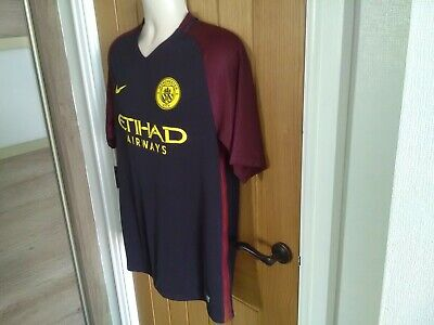 Mens Nike Dri Fit Manchester City Away Shirt 2016-17 Season In Large. New