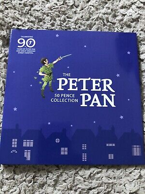 2019 OFFICIAL PETER PAN 50p 6 BUNC Coin Complete Set With NO RESERVE!