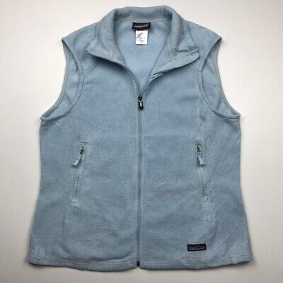 Womens Patagonia Synchilla Fleece XL Gilet Bodywarmer Sleeveless Top Pastel Blue