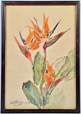 Listed Artist Gunnar Widforss (1879-1943) Signed & Dated Watercolor Painting