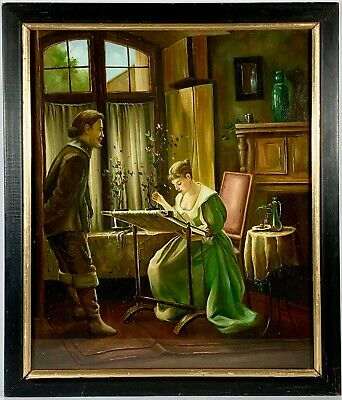 Listed Vermont Artist Warren Kimble (b.1935) Signed Oil On Canvas Painting