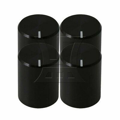 4PCS All Black Aluminum Alloy Guitar Potentiometer Knob Flower Axis 13x16MM