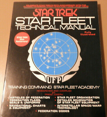 Star Trek Star Fleet Techinical Manual 25th Anniversary Edition