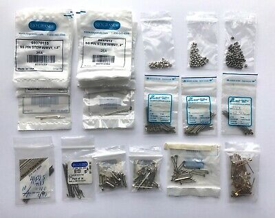 Lot Jewelry Findings Sterling Silver Nickel Brass Pin Stems Catches Backs - NOS
