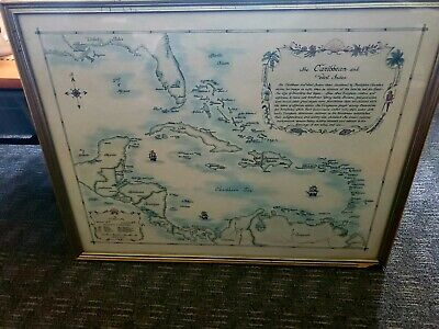 Kay Jmmel Hand-Colored Map of The Caribbean and West Indies by Kay Jmmel