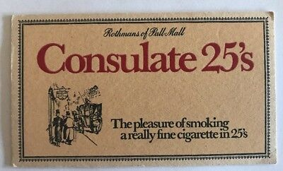 Cigarette Advertising Beer Coaster Rothmans Of Pall Mall Consulate 25's