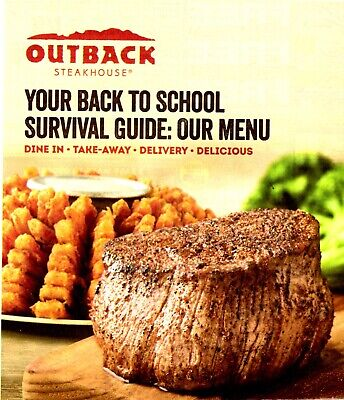 Outback Steakhouse Huge coupon savings! Exp  9/29/19