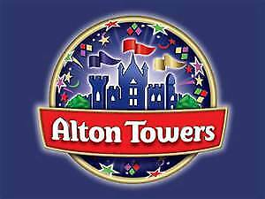 Alton Towers Tickets X 2 Sunday 8Th September (Card Tickets)