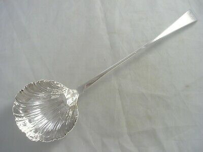 Fine Georgian 1769 Ellis Old English Silver Soup Ladle 167 grams Earl Coronet