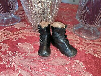 Antique Vintage Old Victorian 1800'S Era Leather Child Baby Doll Shoe Boots