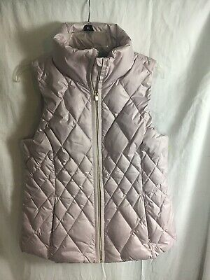 Athleta DOWNTIME VEST  White Quilted  Size M New With Tags $148