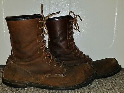 MENS VINTAGE 1930s RED WING CHIPPEWA BROWN LEATHER WORK HUNTING BOOTS SIZE 9 EE