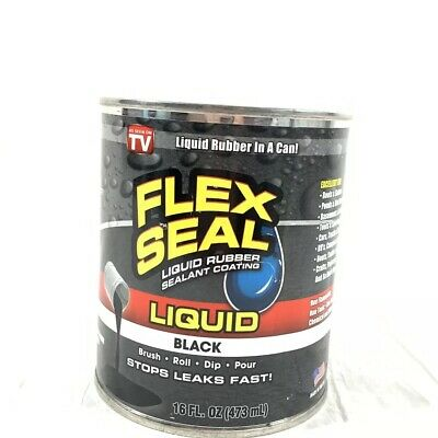 As Seen On Tv Liquid Rubber Sealant Coating Large 16oz Flex Seal Black