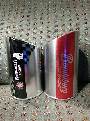 2 Bundaberg Rum Black and Red Racing Exhaust Tip Coolers Holder V8 Supercars