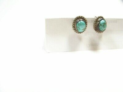 Earring Turquoise Arizona Earrings Screw Backs Native American. Marked Sterling