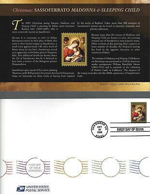 4425 FDC 44c MADONNA & CHILD (2009) FIRST DAY OF ISSUE CEREMONY