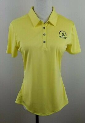 ADIDAS Golf Polo Shirt, Womens Size Small S, Yellow, Short Sleeves, Stretch, NEW