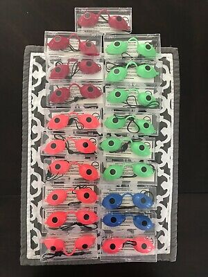 Tanning Bed Eyewear Goggles Super Sunnies LOT Of 19 In Cases BRAND NEW!