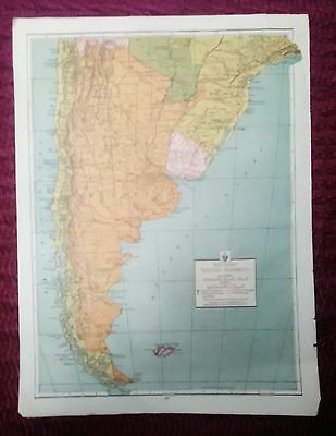 Wwii Era Atlas Page - Southern South America & North East South America