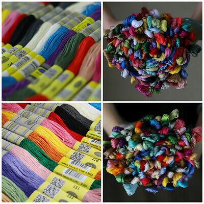 150 Different DMC Colors 8.7yds Cotton Floss Embroidery Thread Cross Stitch Lot